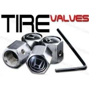 Honda Logo Anti Theft Tire Air Stem Caps 4 pcs
