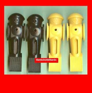 Tornado Foosball Men 2 Black + 2 Yellow parts