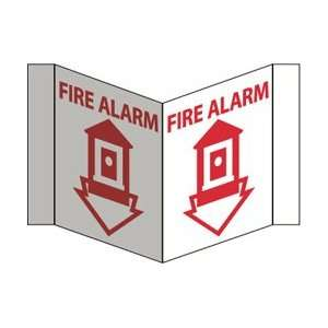 VS3R   VISI Sign, Fire Alarm, Red, 5 3/4 X 8 3/4, .125 Acrylic