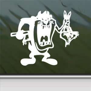 Tazmanian Devil Kill Bugs Bunny Taz Kids White Sticker
