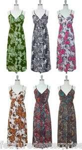 NWT v neck maxi long dress smocked waist summer paisley print
