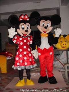 Mickey Mouse And Minnie Mouse 2 Mascot Costumes
