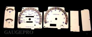 NISSAN HARDBODY 93 98 WHITE FACE GAUGES 94 95 96 97 BL