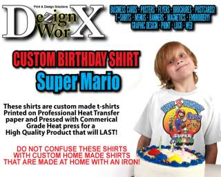 Super Mario Custom Personalized Birthday T Shirt
