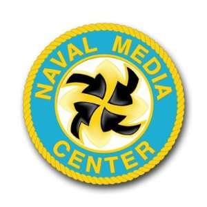 US Navy Media Center Decal Sticker 3.8 6 Pack Everything