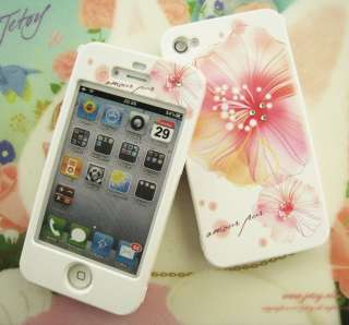 APPLE IPHONE 4G Hard Plastic Case Cover BLOSSOM