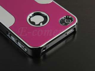 Bling Diamond Crystal Aluminium Hard Case Cover For iPhone 4S 4G 4