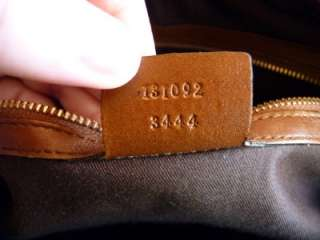 100% Authentic Gucci Brown Leather Horsebit detailed Boston Bag 131092