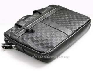 Top Grain Genuine Italian CALF Leather Men Briefcase Laptop Case