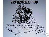 Cast autographs COMBAT! TV series Jack Hogan, P Jalbert