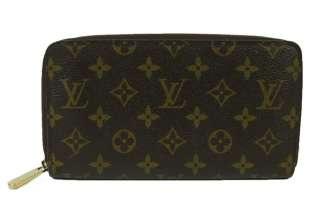 Louis Vuitton Brown Monogram Canvas Zippy Wallet Large Clutch
