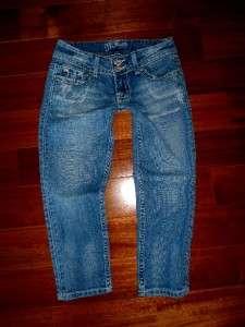 Buckle Miss Me by Mek Low Rise Stretch Flap Pocket Crop Capri Jeans