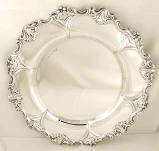 ANTIQUE HALLMARKED STERLING SILVER 10 DINNER PLATE 1901   500 grams