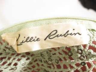 VINTAGE LILLIE RUBIN Mint Green Full Length Gown Dress