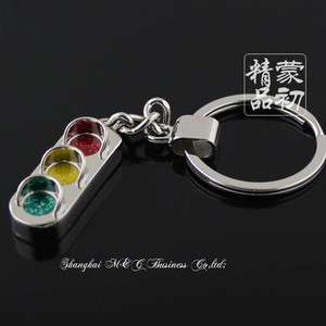3D Traffic lights signal lights Key Chain Ring Keychain Key Fob