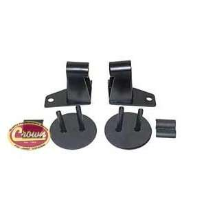 Jeep JK Wrangler 07 11 Mirror Relocation Brackets (Black