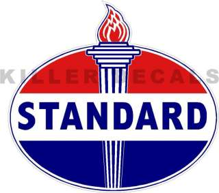 24 OLD STANDARD TORCH GAS PUMP OIL TANK DECAL