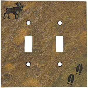 Moose & Tracks Stonecast Double Switch Plate Cover: Home