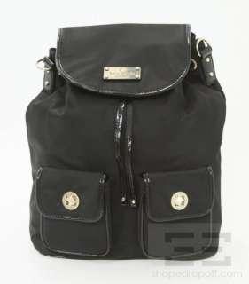Kate Spade Black Nylon & Patent Leather Convertible Drawstring