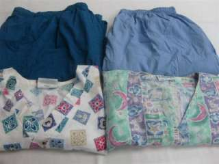 Medical Dental Scrubs Lot of 6 Outfits Sets 2XL XXL 2X LANDAU