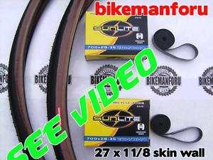 Bicycle 27x1 1/8 Kenda K3 Skinwall 2 Tire Tube Rimstrip