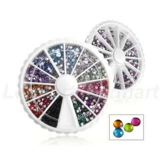 2000 Nail Art Decoration Glitter/Rhinestone 2mm + Wheel
