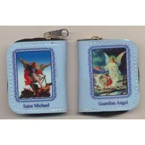 and Guardian Angel Rosary Case with Holy Prayer Cards