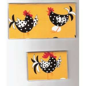 Cover Debit Set Made with Rooster Yellow Fabric