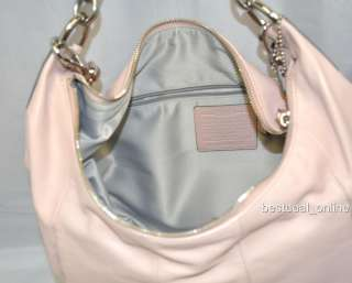Coach 16787 Kristin Pink Leather Large Hobo Handbag *