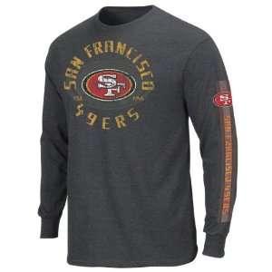 San Francisco 49ers Charcoal Gridiron Tough III Long