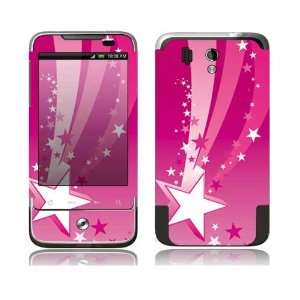 Pink Stars Design Decorative Skin Cover Decal Sticker for HTC Legend