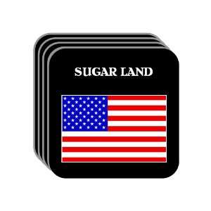 US Flag   Sugar Land, Texas (TX) Set of 4 Mini Mousepad