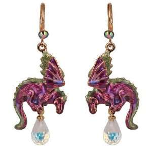 Kirks Folly Hydra Water Dragon Leverback Pierced Earrings