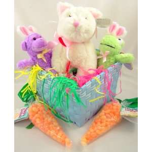 Stuffed Kitty Cat Frog and Purple Monkey W Bunny Ears Toys & Games