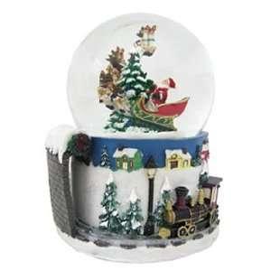 Personalized Large Santa Snow Globe Christmas Ornament