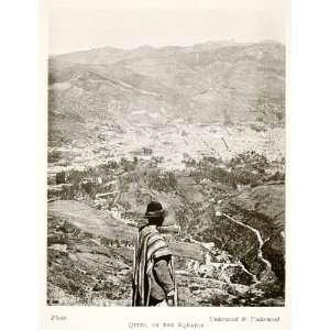 1913 Print Quito Ecuador Valley Peasant Costume Hike City