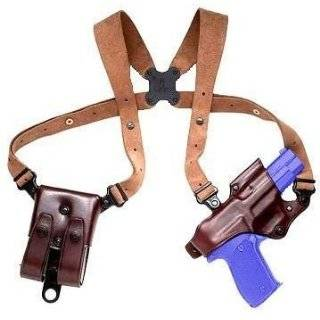 Triple K Deluxe Leather Shoulder Holster Brown, 1911 Triple K Deluxe