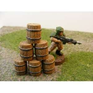Miniature Terrain Small Wooden Barrel (6) Toys & Games