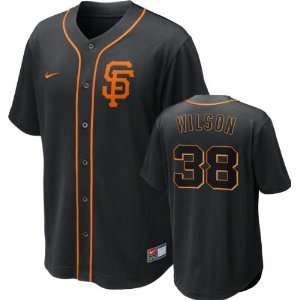 San Francisco Giants Nike Black Brian Wilson #38 Dri FIT