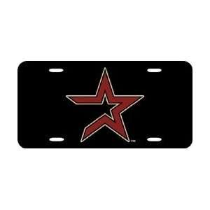 Houston Astros Laser Cut Black License Plate Sports