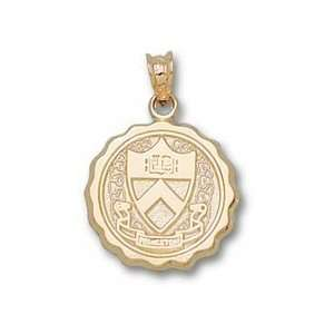 Princeton Tigers Round Seal Pendant   14KT Gold Jewelry