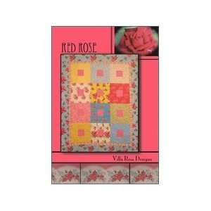 Villa Rosa Designs Red Rose Pattern: Home & Kitchen
