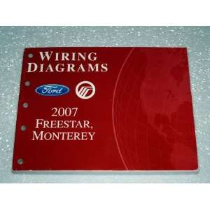 Freestar, Mercury Monterey Wiring Diagrams Ford Motor Company Books