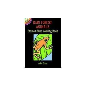 Rain Forest Animals Stained Glass Coloring Book Toys