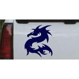 Navy 26in X 22.3in    Tribal Dragon Car Window Wall Laptop