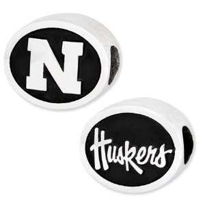 University of Nebraska Cornhuskers Bead/Sterling Silver