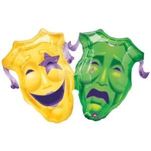 Mardi Gras Balloons   Comedy/Tragedy Super Shape Toys