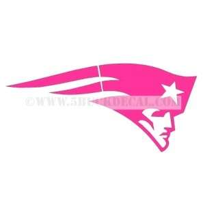 PATRIOTS PINK car window sticker decal BREAST CANCER