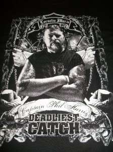 Deadliest Catch Captain Phil Harris Cornelia Marie Tribute size XL T