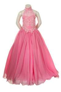 New Girl National Pageant Bridesmaid Easter ball Formal Pink dress